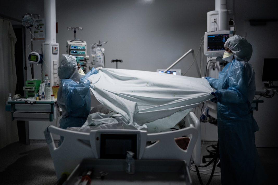 Reportagem no Hospital de Braga durante a segunda Vaga da Pandemia de Covid-19.(Gonçalo Delgado/Global Imagens)